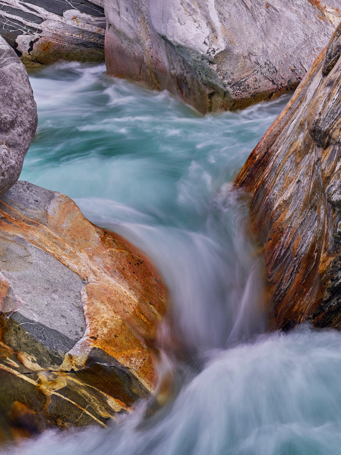 developing landscape photography composition in verzasca